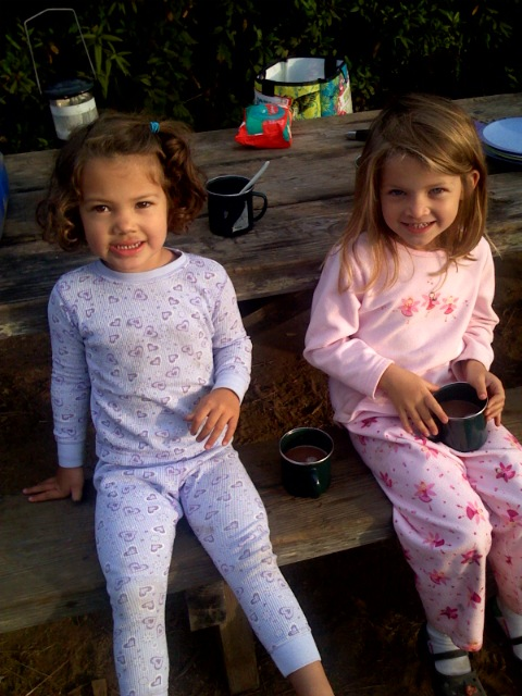 Morning Cocoa at the Campsite